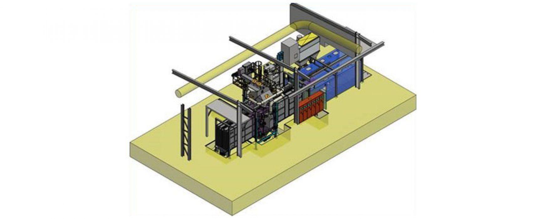 Sandstrahlanlage der Griffner Metallveredelung –  Inbetriebnahme Sept. 2020